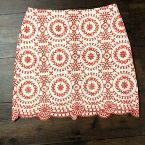 NWT Embroidered Skirt from LOFT